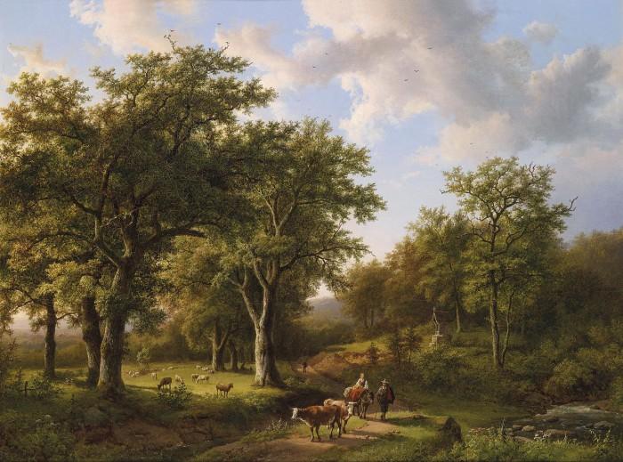 Сказочные пейзажи Barend Cornelis Koekkoek