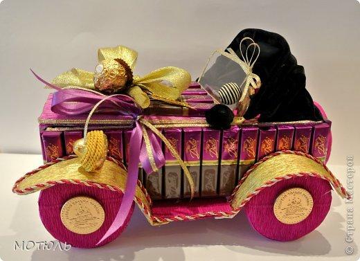 Машинка из шоколада мастер