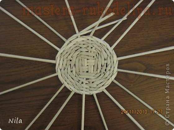 Мастер-класс по плетению из газет: Варианты плетения дна корзинки