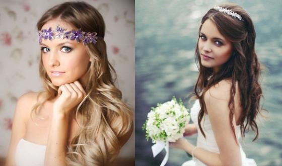 Свадебные прически распущенный волосы