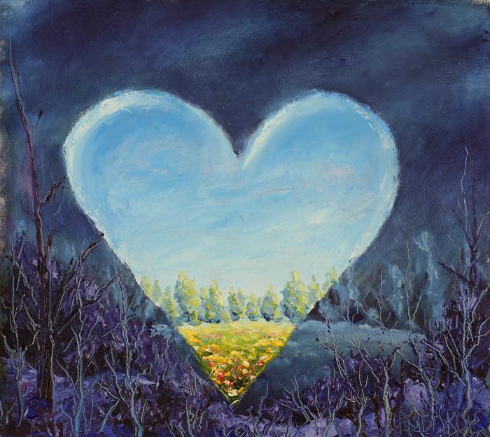 картина маслом: Распахну свое сердце настежь.