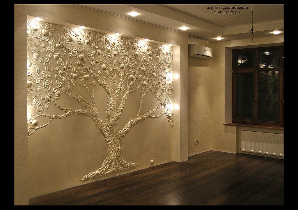 Объемные рисунки на стенах. Идеи и один мастер-класс.