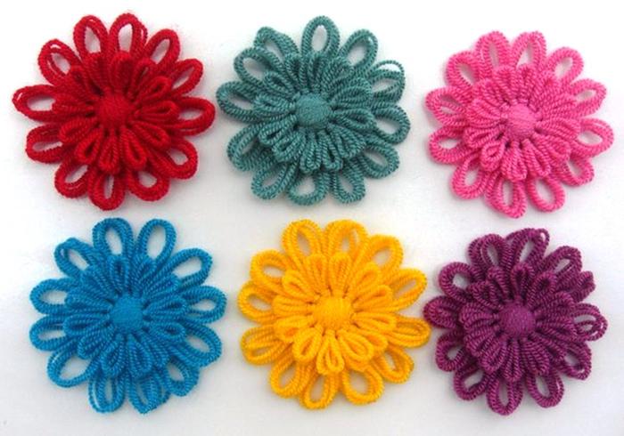 Цветы из нитки своими руками