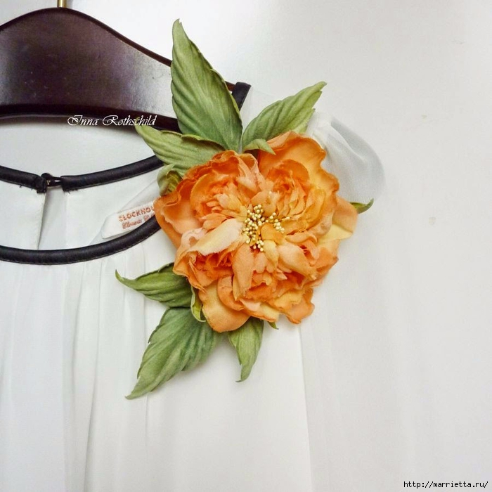 Цветы из шелка от Inna Rothschild (17) (700x700, 242Kb)