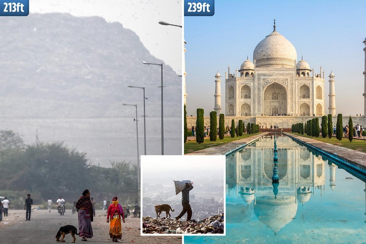 Свалка Газипур в Дели скоро поднимется выше Тадж-Махала