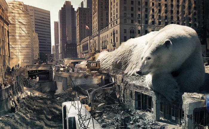 Масштабное разрушение.