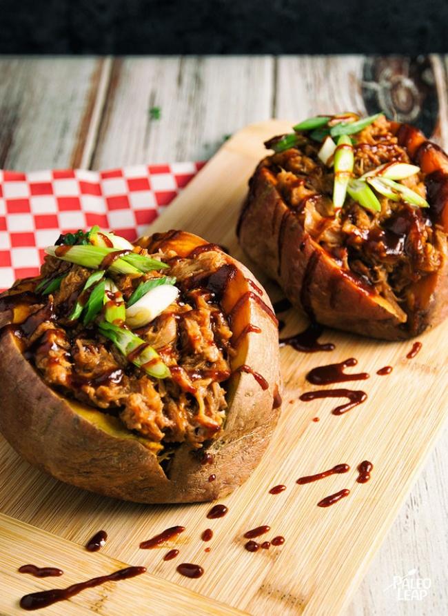Картофель, фаршированный грибами и ветчиной