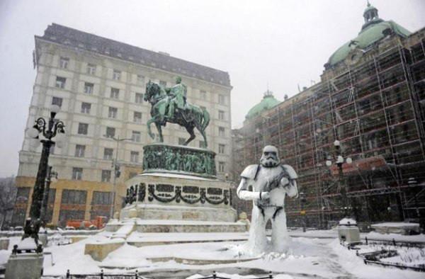 Удивительные снежные скульптуры креатив, скульптуры, снег