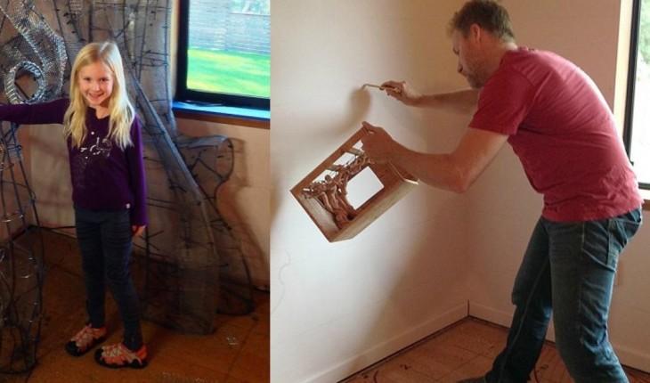 В течение полутора лет он трудился над комнатой дочери. Результат получился восхитительным!