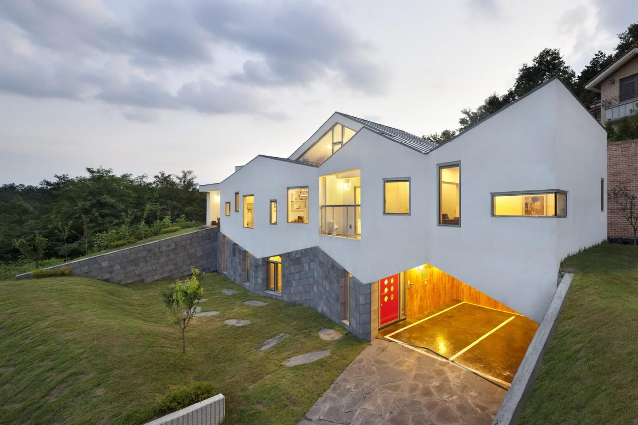 7. Панорамный дом в в Чхунчхон-Пукто, Южная Корея дом, идея, проект