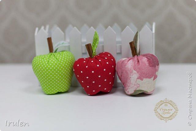 Сшить яблоки из ткани 84