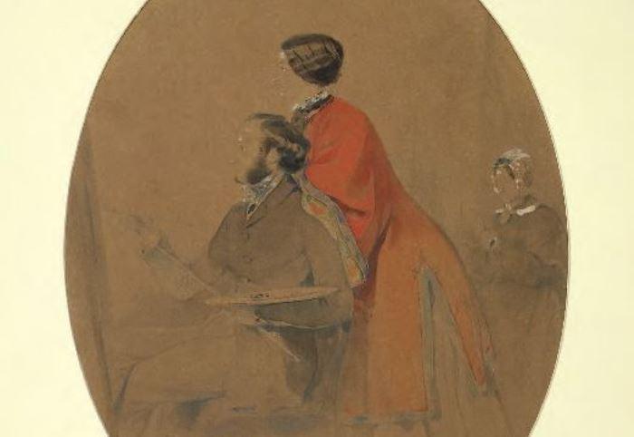 И. Айвазовский. Семейный портрет (автопортрет с женой Юлией), 1849 | Фото: artchive.ru