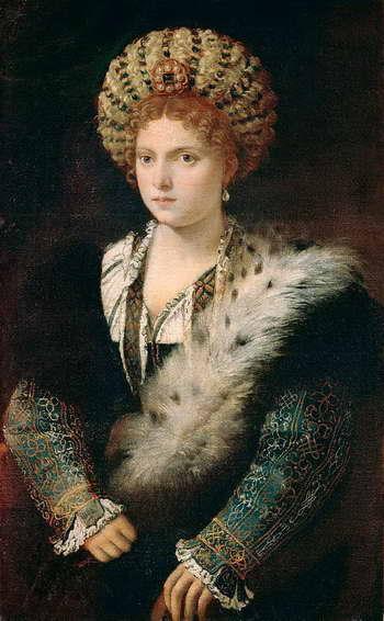 Тициан. Портрет Изабеллы д'Эсте