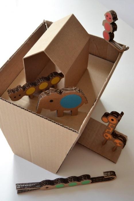 Идеи поделок из картонных коробок 100