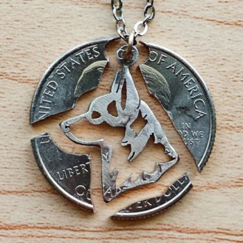 САМОДЕЛКИ. Медальон из монеты