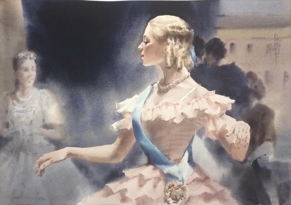 Балет в акварелях художницы Анны Ивановой