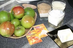 Яблочный пирог «3 стакана» - Сочная начинка и хрустящая сахарная корочка!