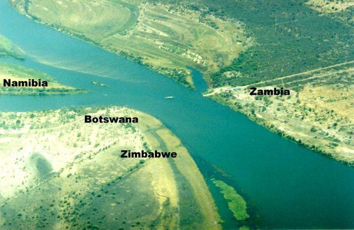 8. Ботсвана, Намибия, Замбия и Зимбабве в мире, граница