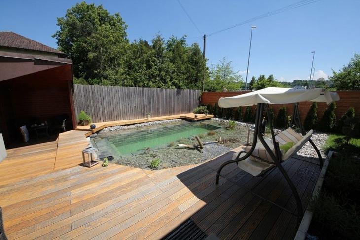 Великолепный небольшой бассейн на заднем дворе своими руками