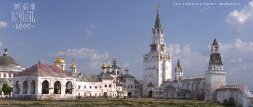 Кремль в прошлом История Московского Кремля, реконструкция кремля
