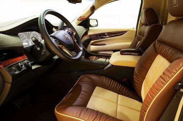 Ателье Lexani представило комфортабельный интерьер с повышенной функциональностью для новейшего 2015 Cadillac Escalade