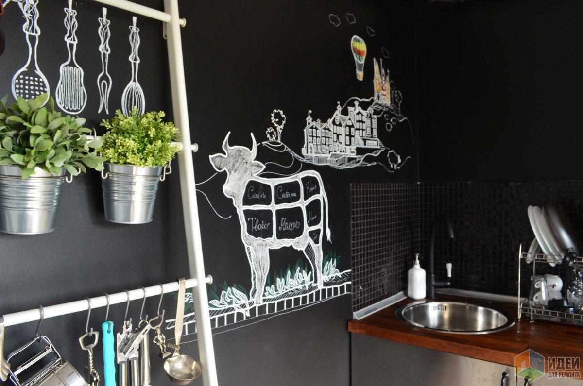 Черно-белая кухня аксессуары