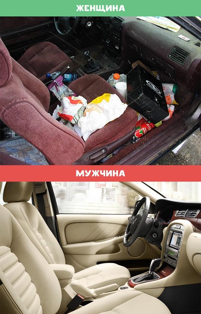 Автомобиль женщина, мужчина, различия