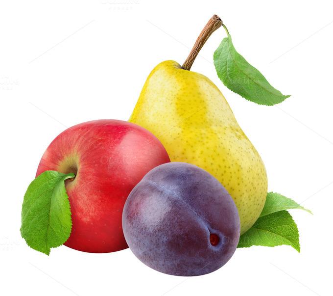 Яблоки и сливы рисунок