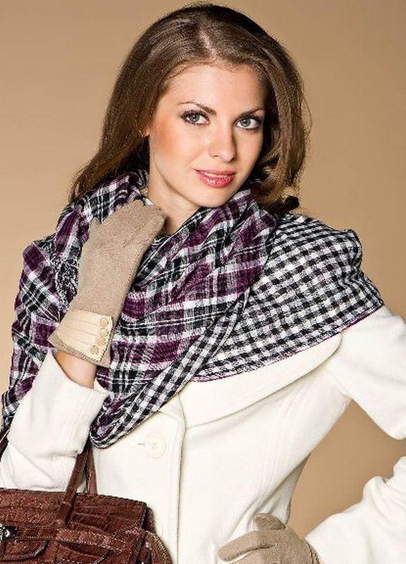 Как завязать шарф, косынку, палантин