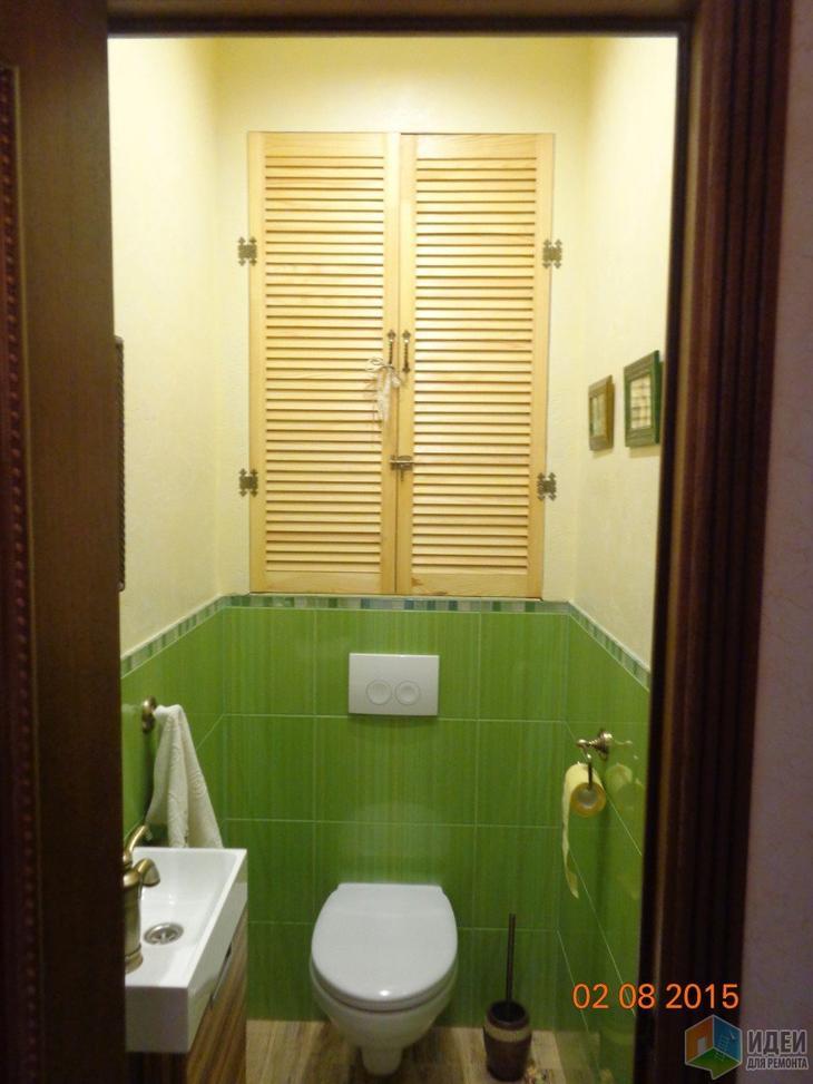 Фото ремонта салатовый туалет