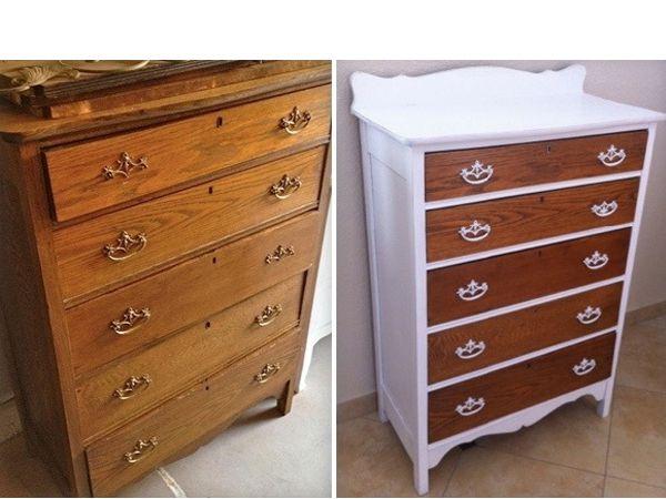 Как из старой кухонной мебели сделать новую фото