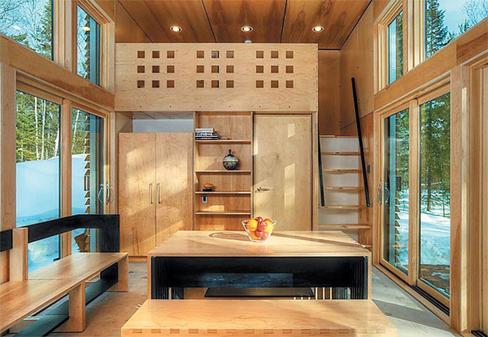 Дизайны небольших домов внутри 5