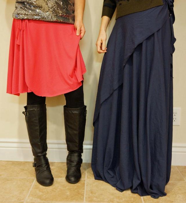 2 юбки с запахом