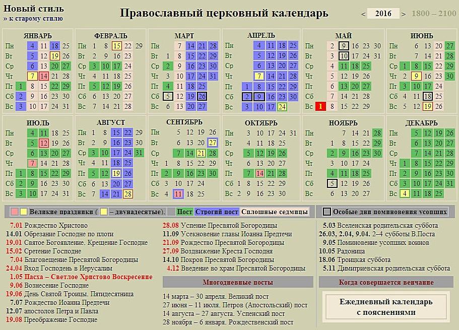 православный календарь февраль март 2016 год видео обучающего цикла