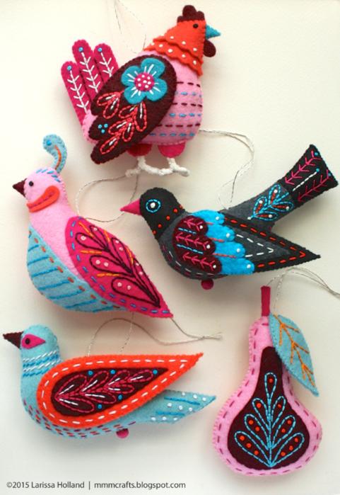 Райские птицы из фетра. Идеи (10) (481x700, 596Kb)