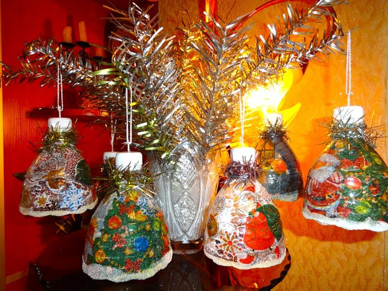 Новогодние колокольчики из бутылок! Morskay10