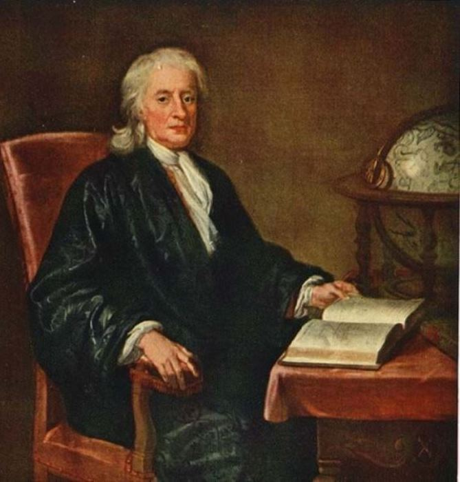 Енох Симен-младший. Портрет сэра Исаака Ньютона, около 1726