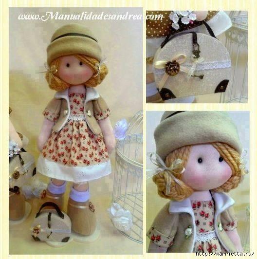 Couture des vêtements de poupée et Diana dans un sac à main (4) (528x532, 157KB)