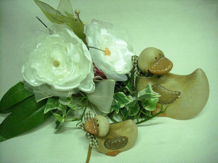 Цветы из атласа и органзы своим  руками