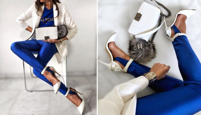 Богиня кобальта: как стильно носить самый модный цвет нового сезона
