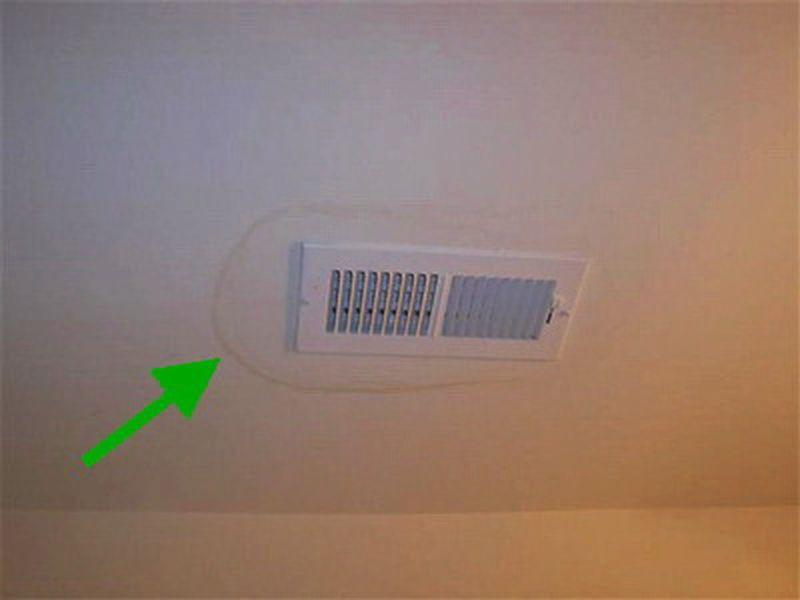 1. Скрываем пятна на потолке мел, советы, хитрости