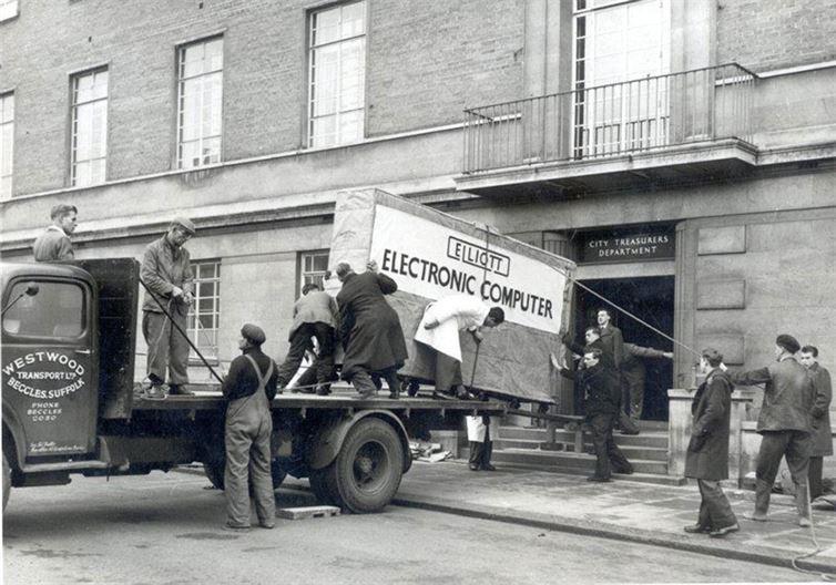 12. Как перевозили компьютер в 1957 году. история, неизвестные фото, фото