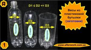 Весы из пластиковых бутылок для кухни