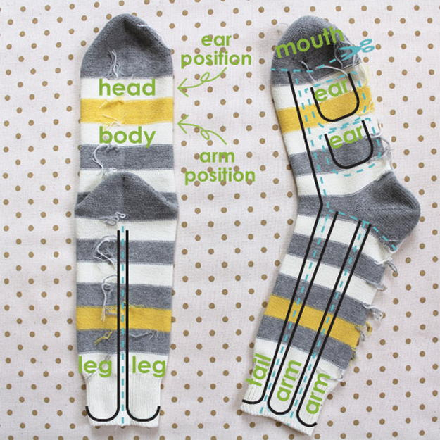 картинка игрушки из носков, делаем забавных обезьянок своими руками
