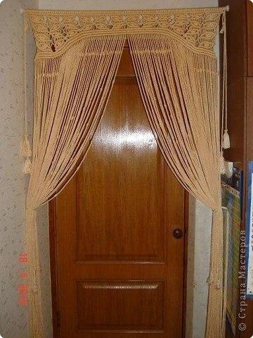 Шторка на дверь + МК