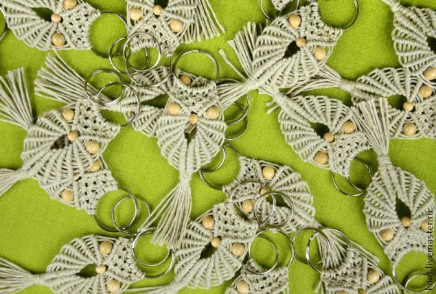 """Макраме. Видео-МК по плетению подвески-брелка для ключей """"Сова"""""""