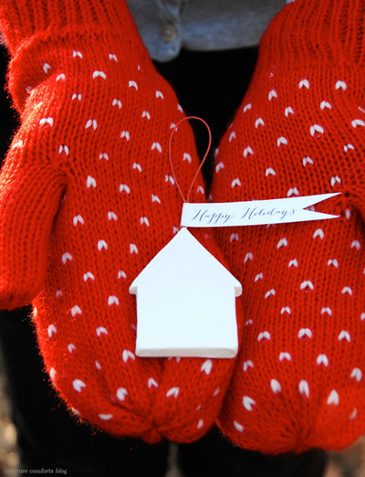 Simple Neighborly Clay House Ornament Gifts