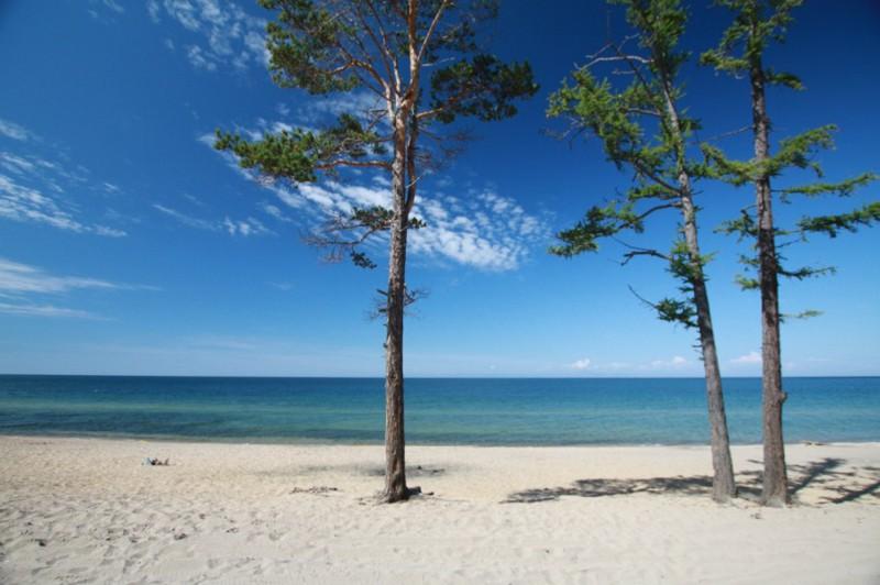Байкальский пляж Бйкал, Горячинск, россия