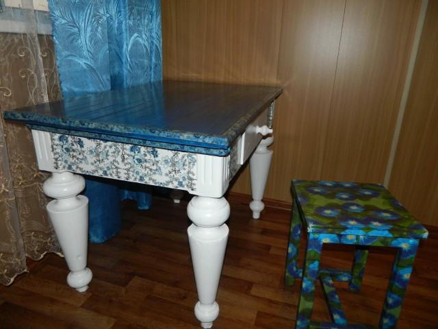 Мастер класс как отреставрировать старый стол