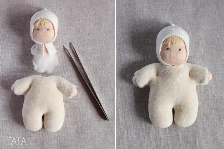 Как сшить ляльку в колыбельке.